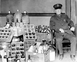 Confiscated bootleg whiskey (Library of Congress)