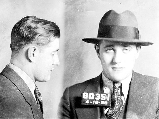 "Benjamin ""Bugsy"" Siegel mug shot as a young man"